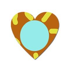 Abstract sun Heart Magnet