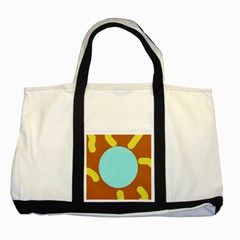 Abstract sun Two Tone Tote Bag