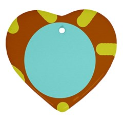 Abstract sun Heart Ornament (2 Sides)