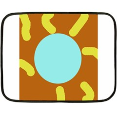 Abstract sun Double Sided Fleece Blanket (Mini)