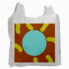 Abstract sun Recycle Bag (One Side)