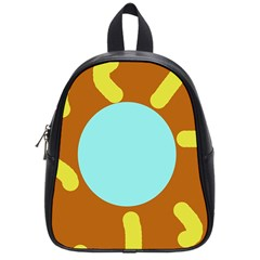 Abstract sun School Bags (Small)