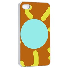 Abstract sun Apple iPhone 4/4s Seamless Case (White)