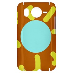 Abstract sun HTC Desire HD Hardshell Case