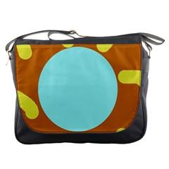 Abstract sun Messenger Bags