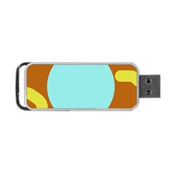 Abstract sun Portable USB Flash (Two Sides)