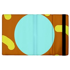 Abstract sun Apple iPad 3/4 Flip Case