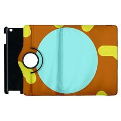Abstract sun Apple iPad 3/4 Flip 360 Case