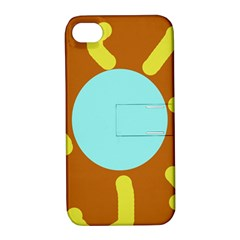 Abstract sun Apple iPhone 4/4S Hardshell Case with Stand