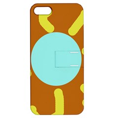 Abstract sun Apple iPhone 5 Hardshell Case with Stand