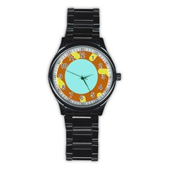 Abstract sun Stainless Steel Round Watch