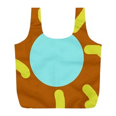 Abstract sun Full Print Recycle Bags (L)