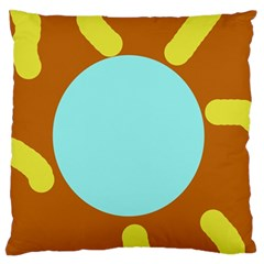 Abstract sun Large Flano Cushion Case (Two Sides)