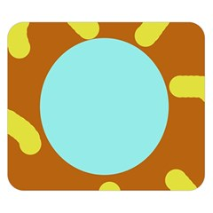 Abstract sun Double Sided Flano Blanket (Small)