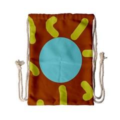 Abstract sun Drawstring Bag (Small)