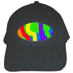 Rainbow abstraction Black Cap