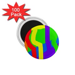 Rainbow abstraction 1.75  Magnets (100 pack)