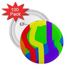 Rainbow abstraction 2.25  Buttons (100 pack)
