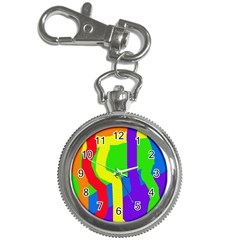 Rainbow abstraction Key Chain Watches