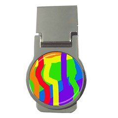 Rainbow abstraction Money Clips (Round)