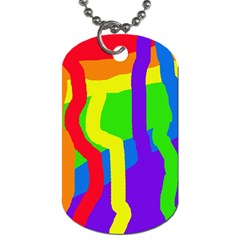 Rainbow abstraction Dog Tag (Two Sides)