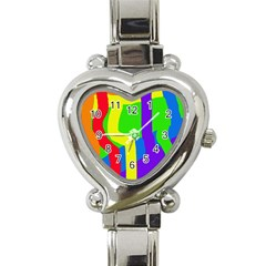 Rainbow abstraction Heart Italian Charm Watch