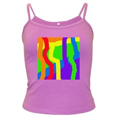 Rainbow abstraction Dark Spaghetti Tank