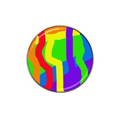 Rainbow abstraction Hat Clip Ball Marker