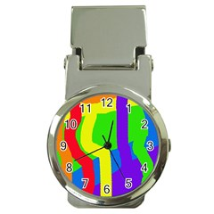 Rainbow abstraction Money Clip Watches