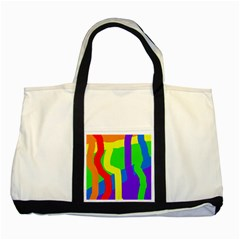 Rainbow abstraction Two Tone Tote Bag