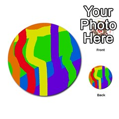 Rainbow abstraction Multi-purpose Cards (Round)