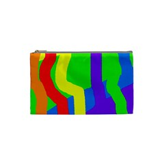 Rainbow abstraction Cosmetic Bag (Small)