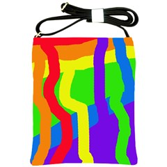 Rainbow abstraction Shoulder Sling Bags