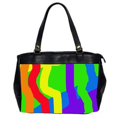 Rainbow abstraction Office Handbags (2 Sides)
