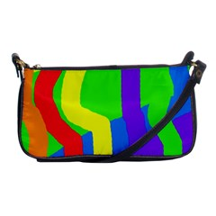 Rainbow abstraction Shoulder Clutch Bags