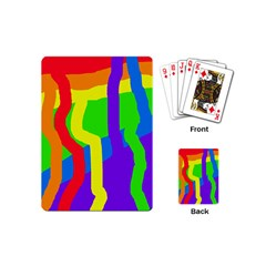 Rainbow abstraction Playing Cards (Mini)