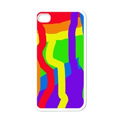Rainbow abstraction Apple iPhone 4 Case (White)