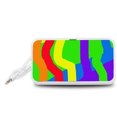 Rainbow abstraction Portable Speaker (White)