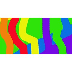 Rainbow abstraction YOU ARE INVITED 3D Greeting Card (8x4)
