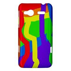 Rainbow abstraction HTC Radar Hardshell Case