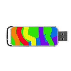 Rainbow abstraction Portable USB Flash (One Side)