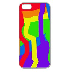 Rainbow abstraction Apple Seamless iPhone 5 Case (Clear)