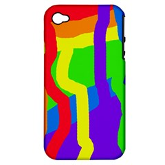 Rainbow abstraction Apple iPhone 4/4S Hardshell Case (PC+Silicone)