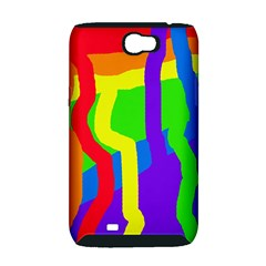Rainbow abstraction Samsung Galaxy Note 2 Hardshell Case (PC+Silicone)
