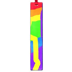 Rainbow abstraction Large Book Marks