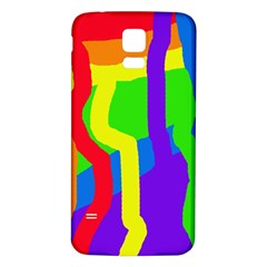 Rainbow abstraction Samsung Galaxy S5 Back Case (White)