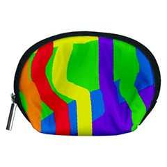 Rainbow abstraction Accessory Pouches (Medium)