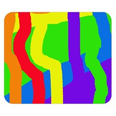 Rainbow abstraction Double Sided Flano Blanket (Small)