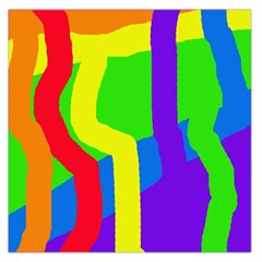 Rainbow abstraction Large Satin Scarf (Square)