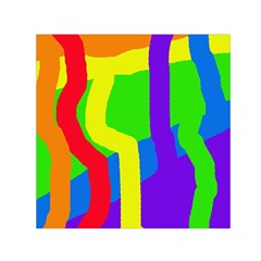 Rainbow abstraction Small Satin Scarf (Square)